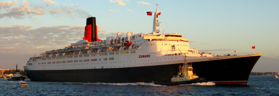 Cunard's Queen Elizabeth 2 (QE2) is the most celebrated Ocean Liner of our time