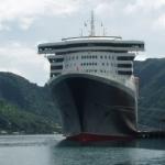 Cunard's QM2 at Pago Pago.